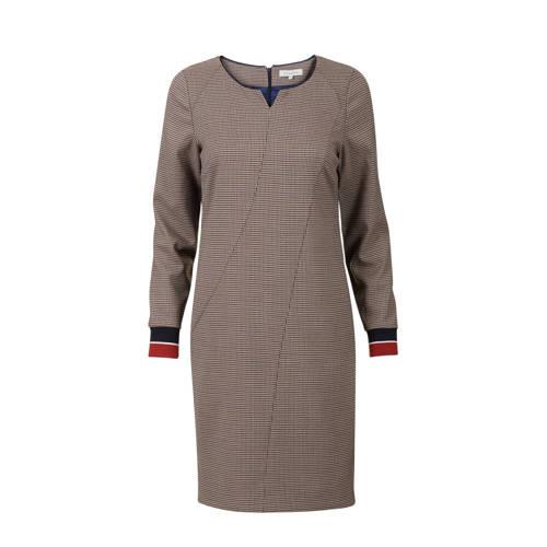 Promiss geruite jurk bruin