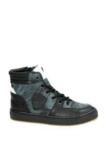 Vingino leren sneakers zwart jongens
