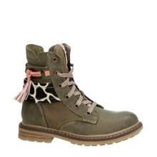 leren boots kaki