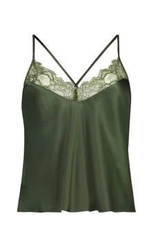 satijnen pyjamatop Serendipity groen