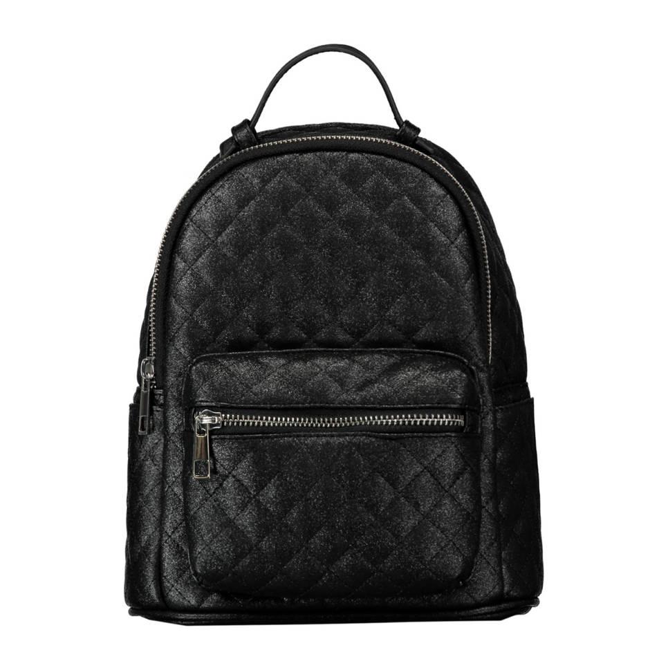 CoolCat quilted rugzak zwart, Zwart