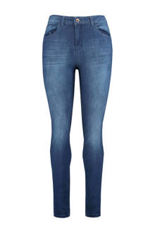 high waisted skinny jeans donkerblauw