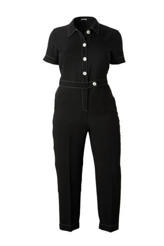 loose fit jumpsuit zwart
