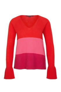 comma gestreepte trui met kasjmier roze (dames)