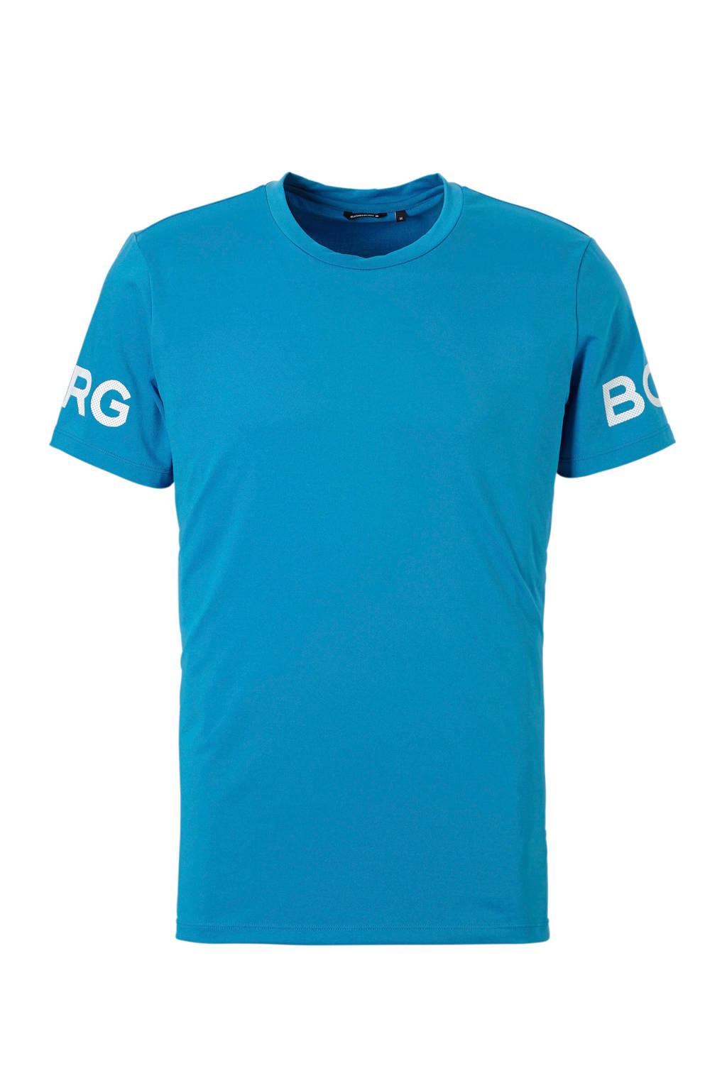 Björn Borg   sport T-shirt lichtblauw, Lichtblauw