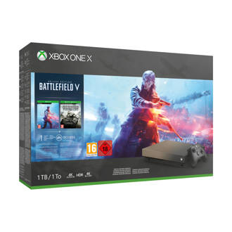 Xbox One X 1TB  + Battlefield V Gold Rush Special Edition bundel