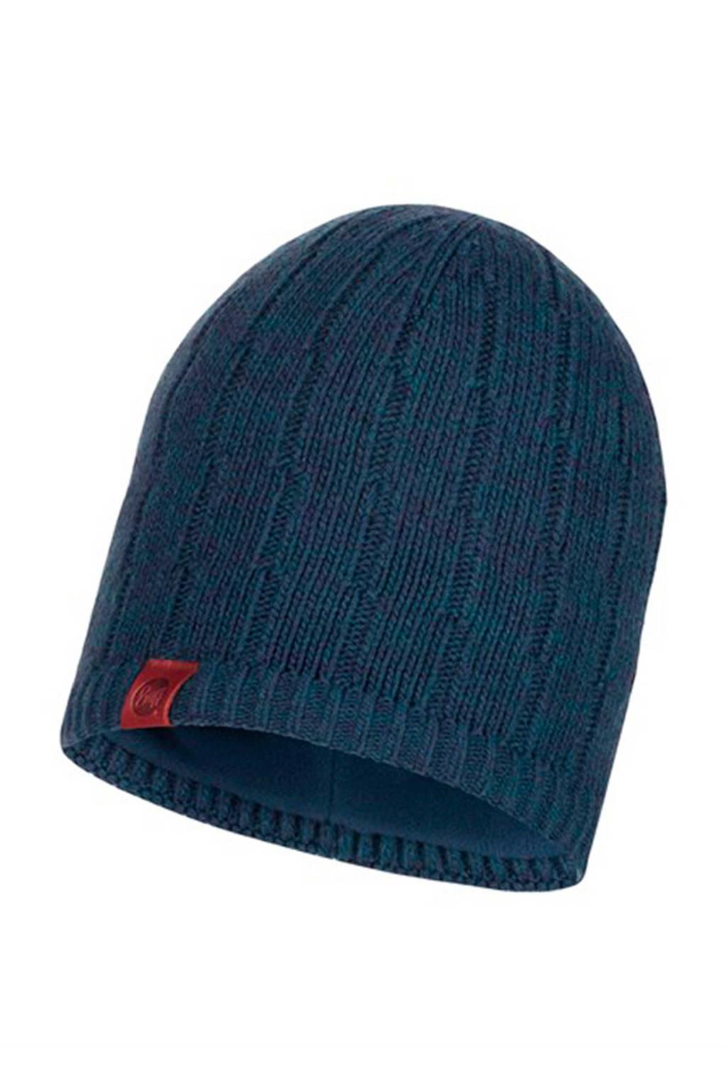 Buff muts Knitted & Polar donkerblauw, Donkerblauw