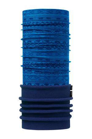 colsjaal print blauw/kobaltblauw