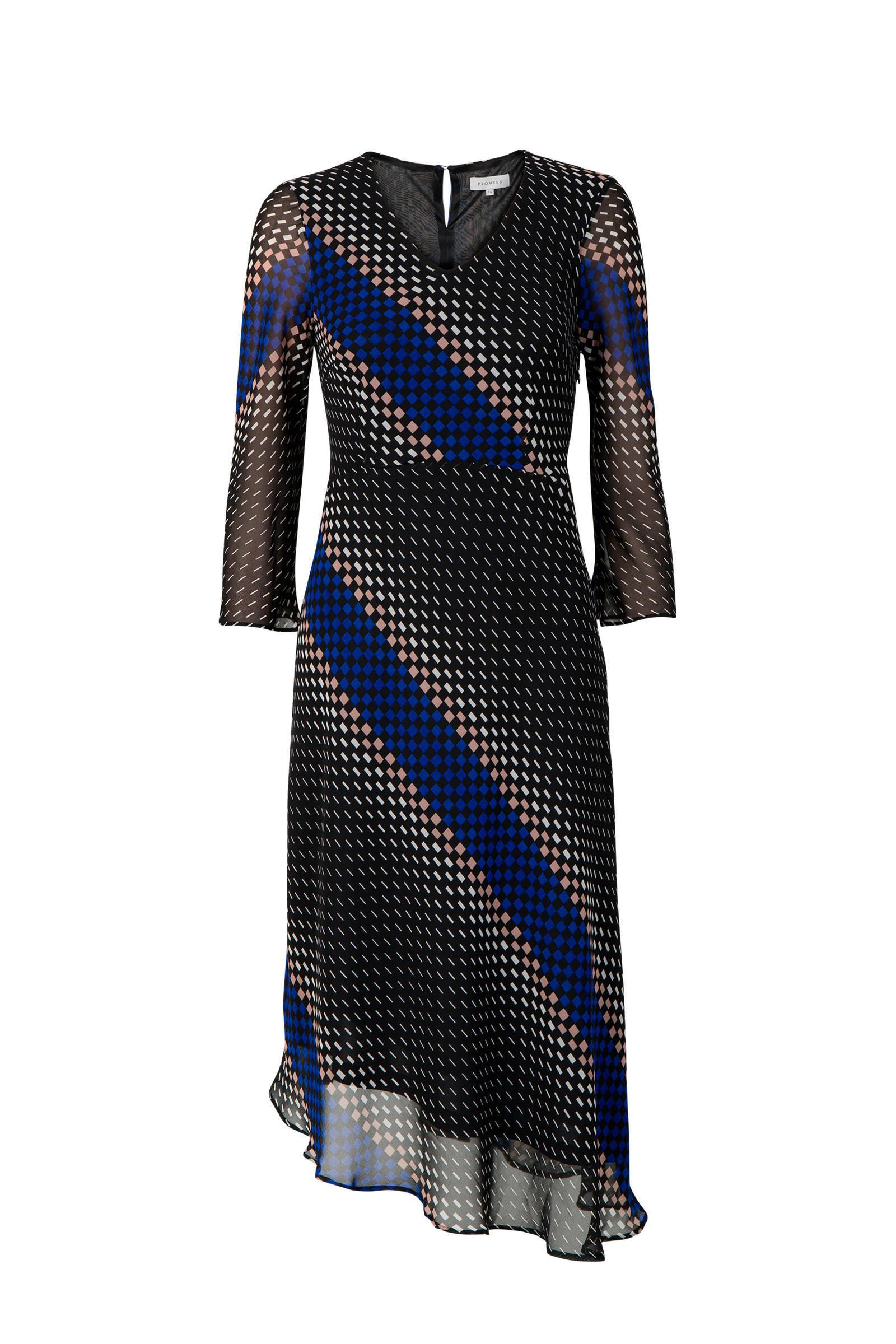 zwart blauwe jurk