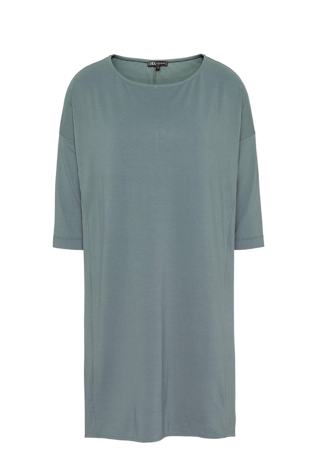 711d445e72e18d Didi basic oversized jurk grijsblauw