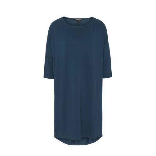 basic oversized jurk blauw