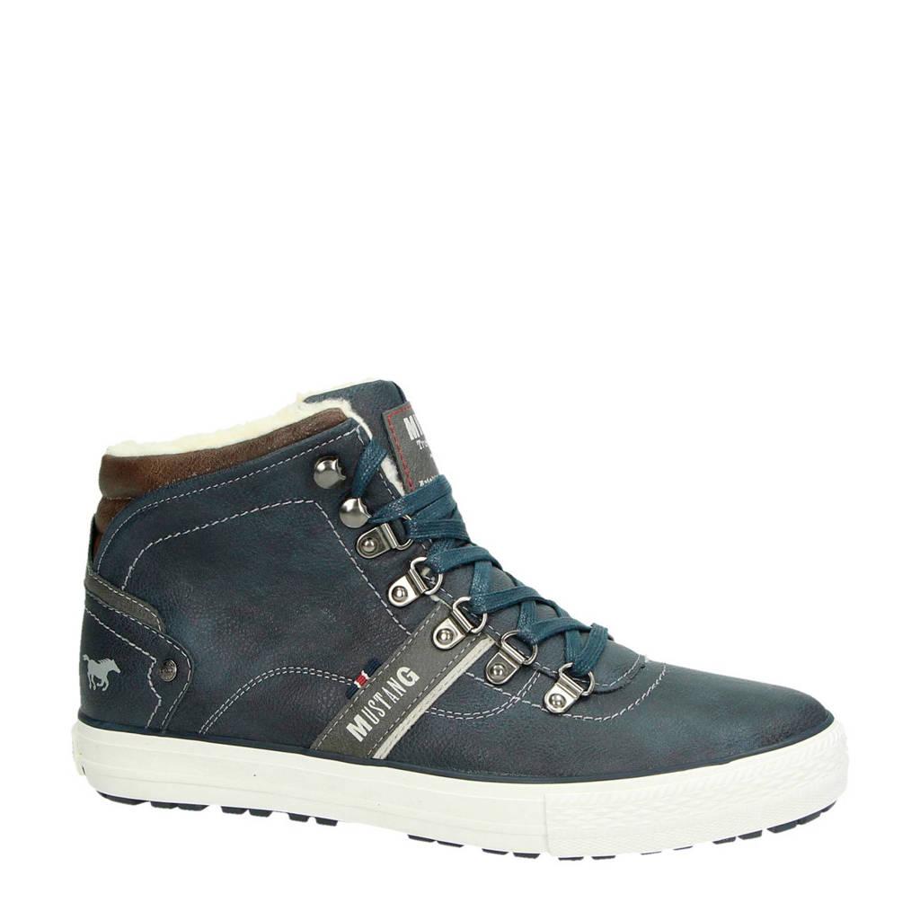 Mustang  sneakers donkerblauw, Blauw