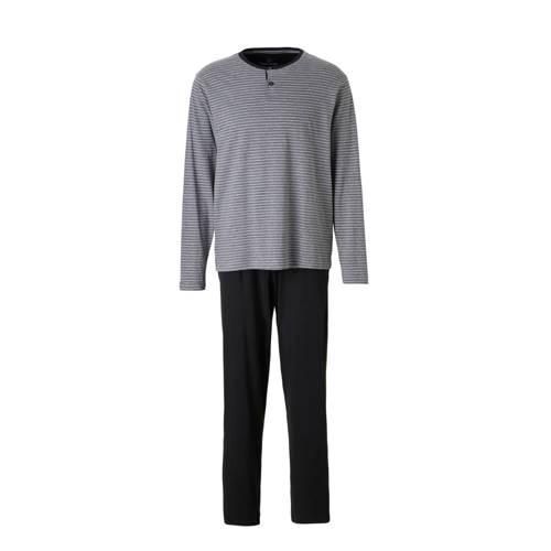 pyjama met strepen grijs