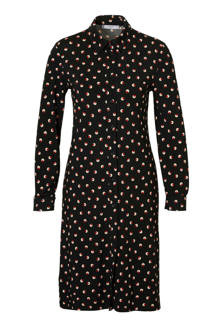 blousejurk met allover print zwart
