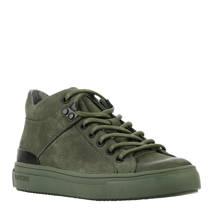 nubuck sneakers donkergroen