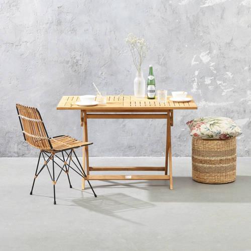Exotan vouwbare tafel vierkant 120x70x75H teak