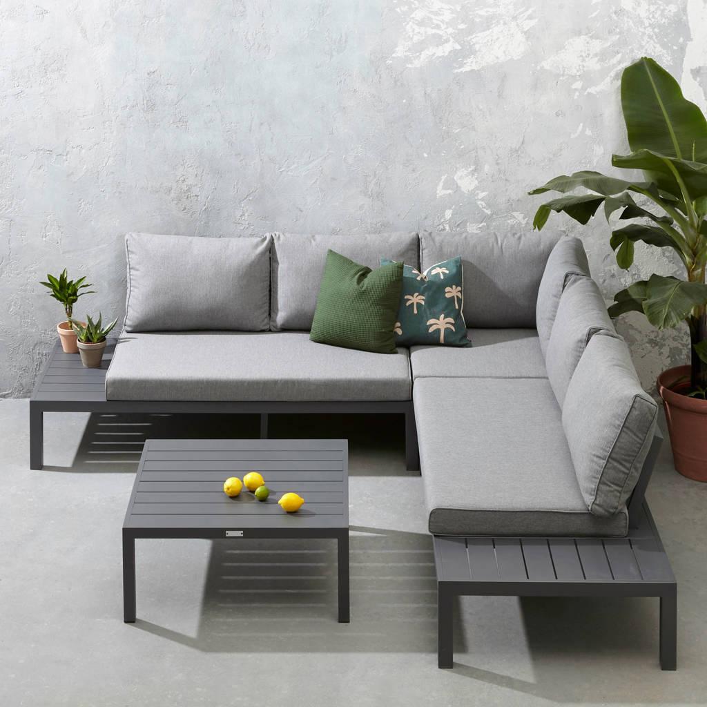 Exotan loungeset La Vida (aluminium), Antraciet/grijs