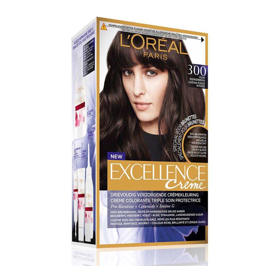 L'Oréal Paris Excellence Crème Puur - Donkerbruin 300