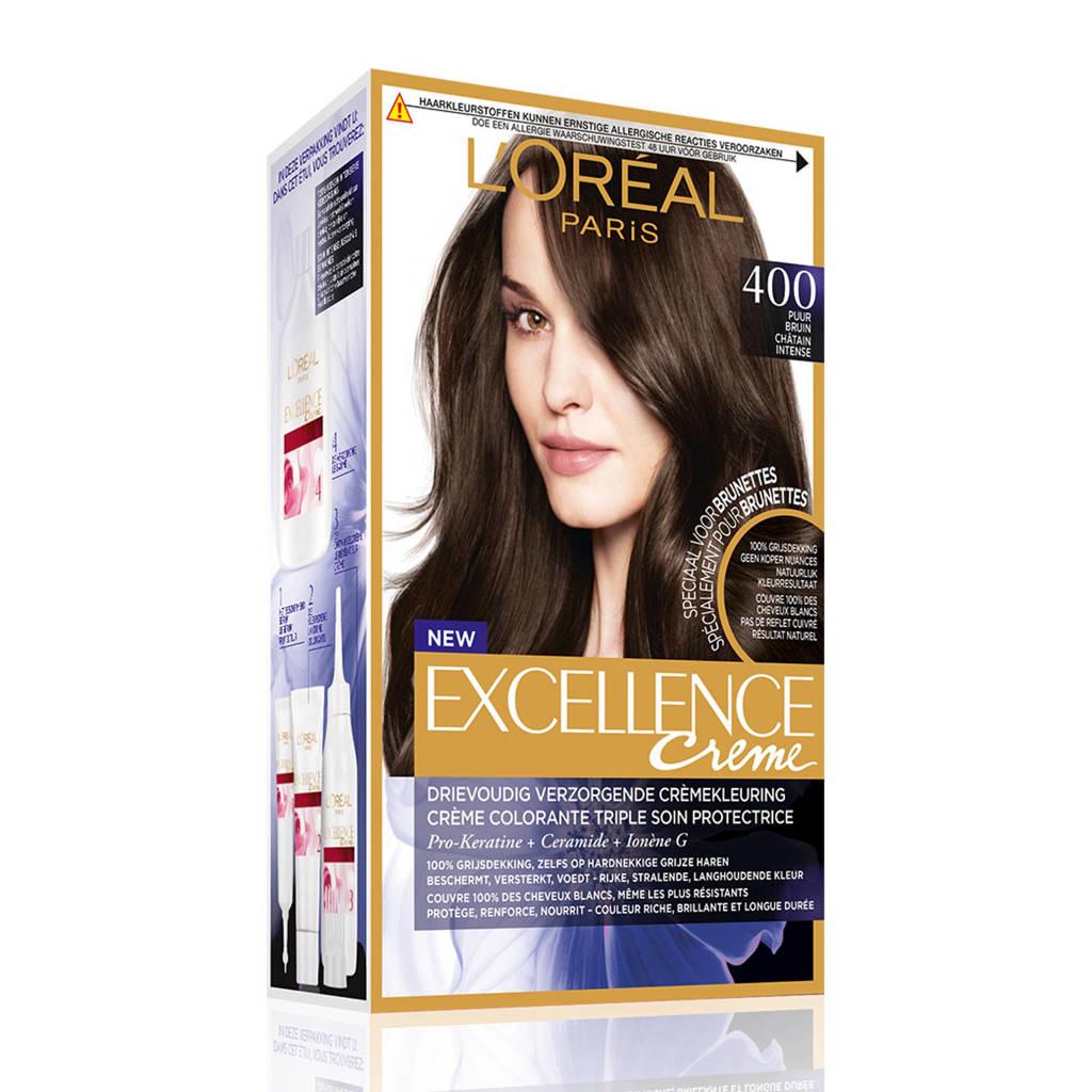L'Oréal Paris Excellence Crème Puur - Puur bruin 400