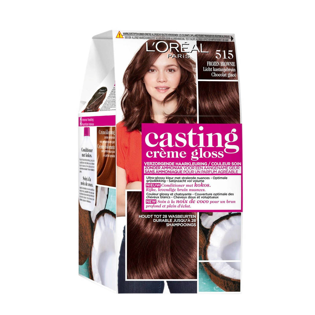 L'Oréal Paris Casting Crème Gloss haarkleuring - 515 Licht  kastanjebruin
