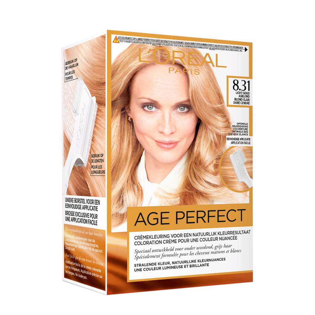 L'Oréal Paris Excellence Age Perfect 8.31 Licht goud asblond, 8.31 Licht Goud Asblond