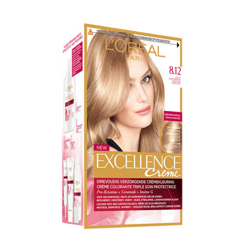 Loreal Paris Excellence Blonde Legend 8.12 Licht As Parelmoerblond Stuk