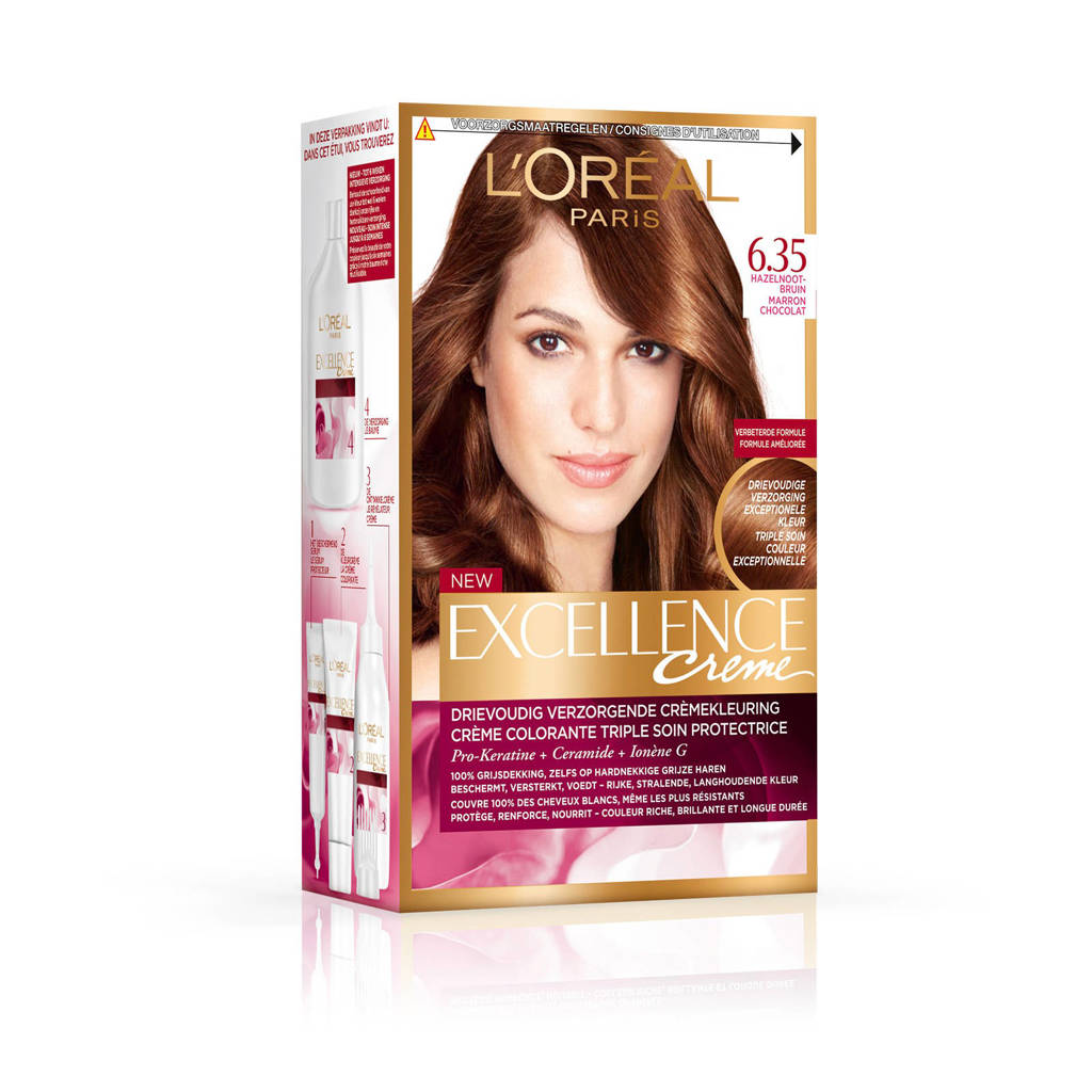 L'Oréal Paris Excellence Crème haarkleuring - 6.35 Hazelnootbruin