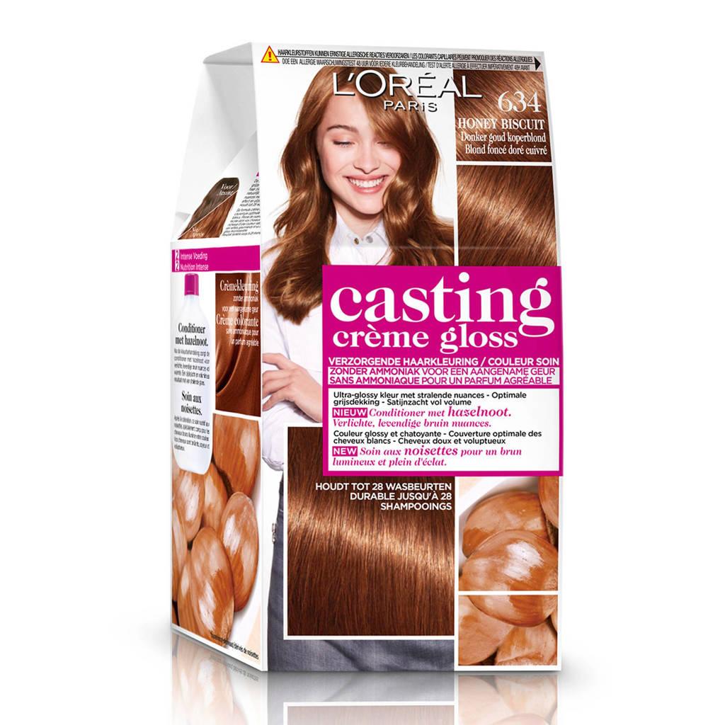 L'Oréal Paris Casting Crème Gloss haarkleuring - 634 Donker goudkoperblond