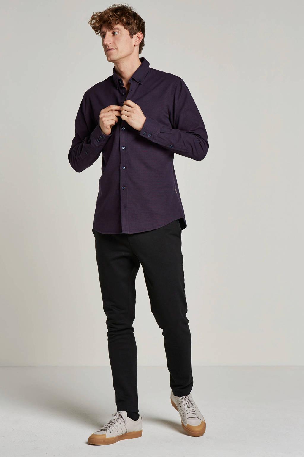 Boss Casual slim fit overhemd, Donkerblauw