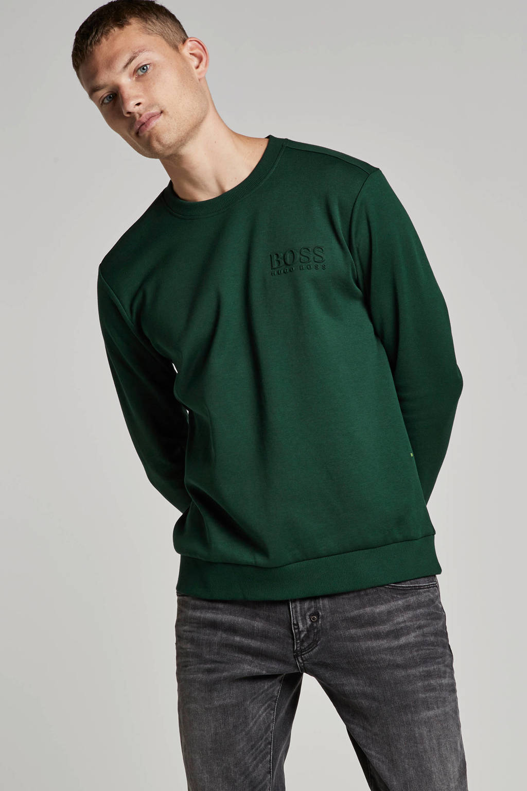 Boss Athleisure sweater, Groen