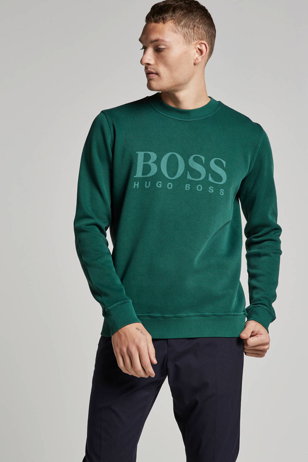 Boss Casual sweater, Groen