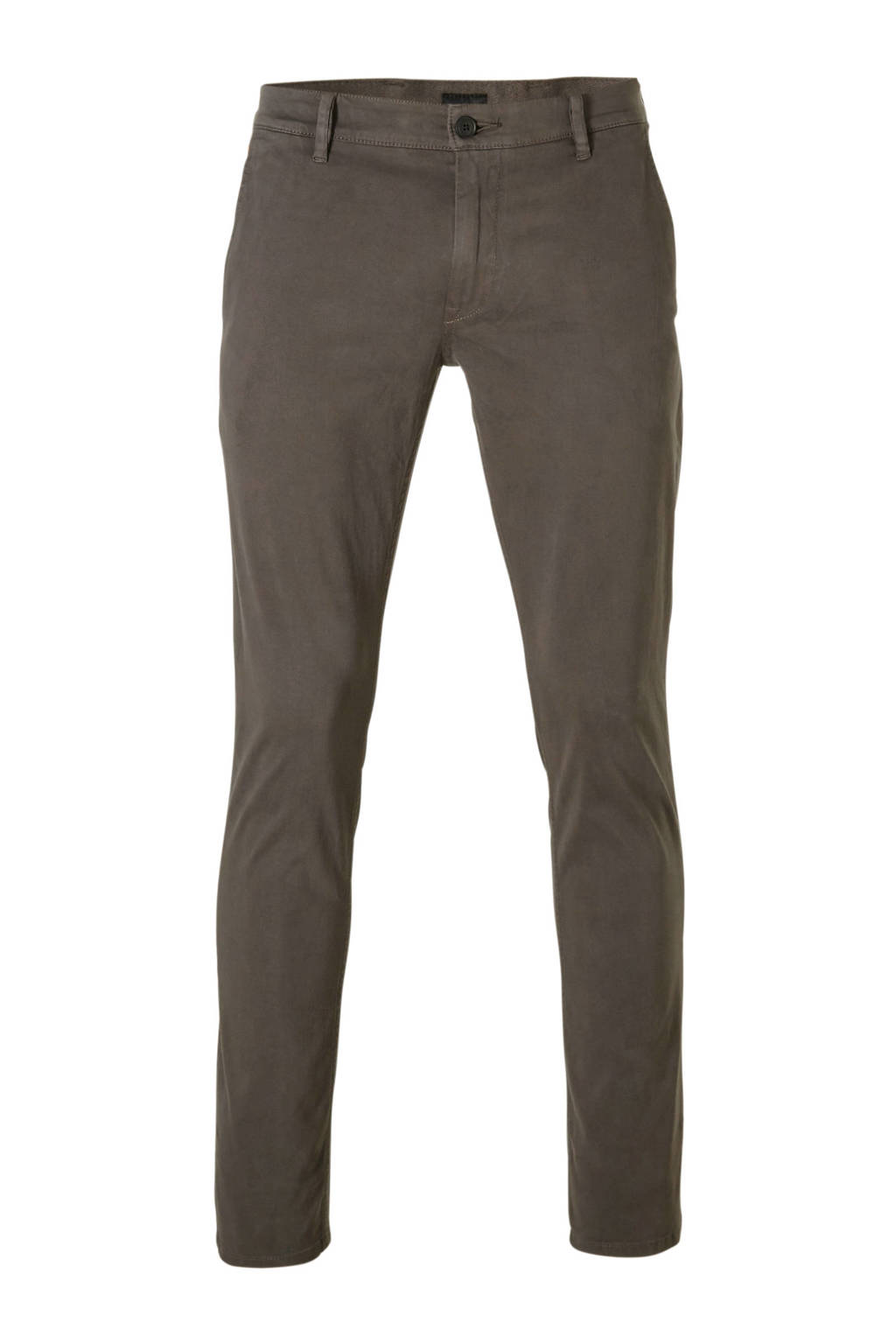 Boss Casual slim fit chino grijs, Grijs