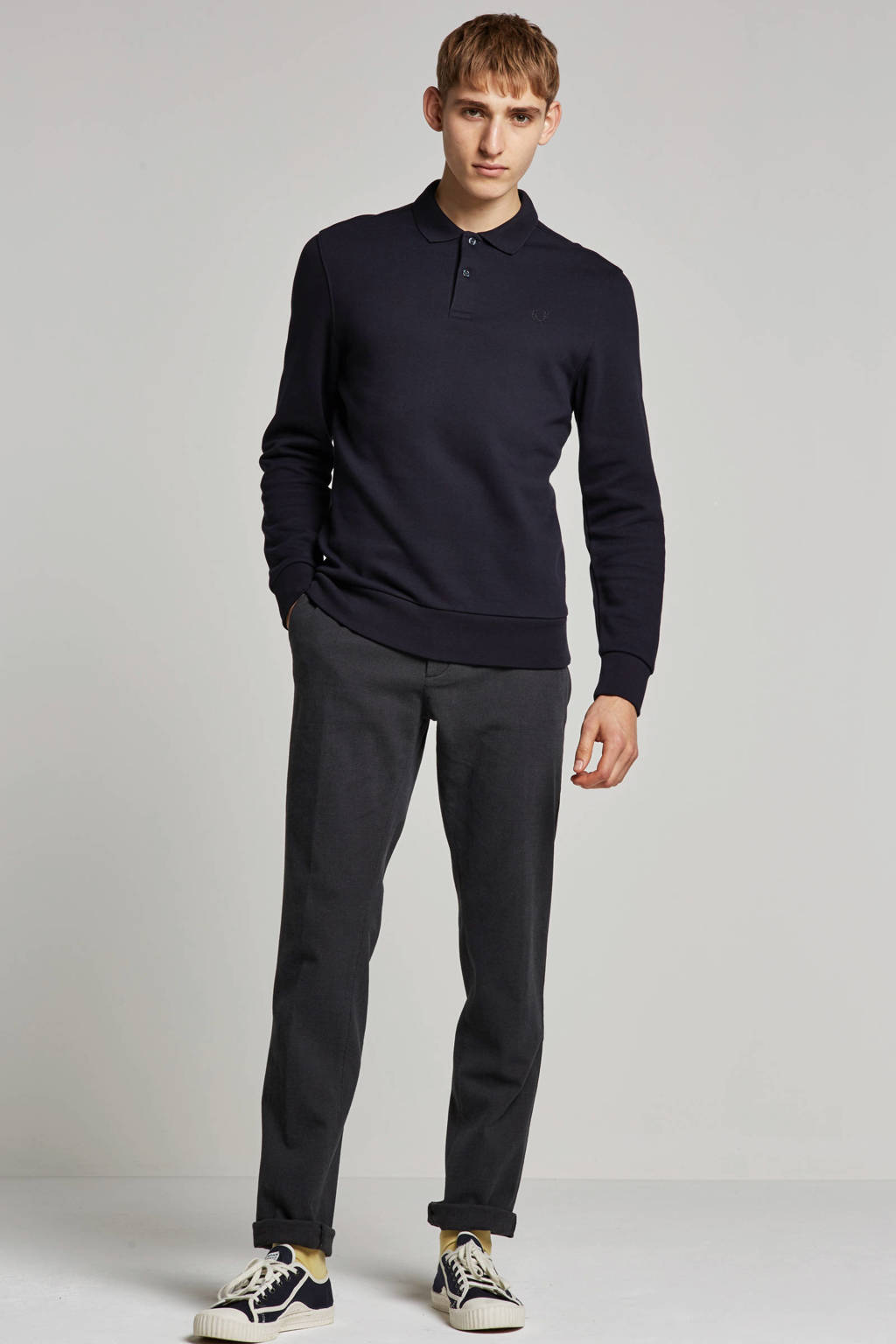 Boss Business slim fit chino, Zwart, grijs