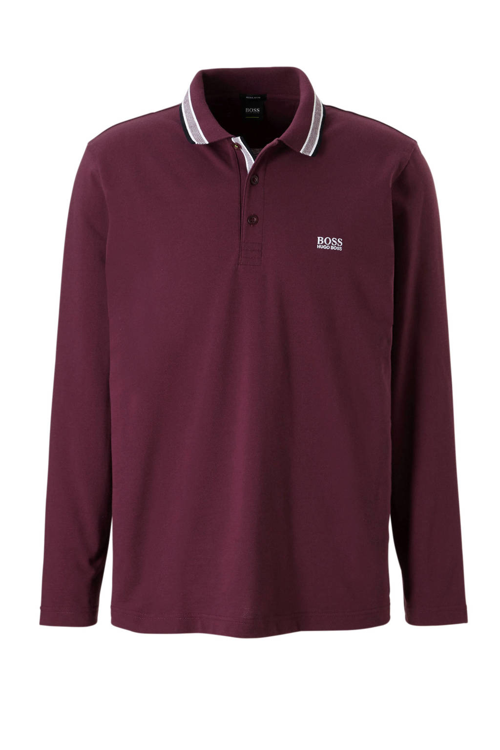 Boss Athleisure regular fit polo, Bordeaux rood