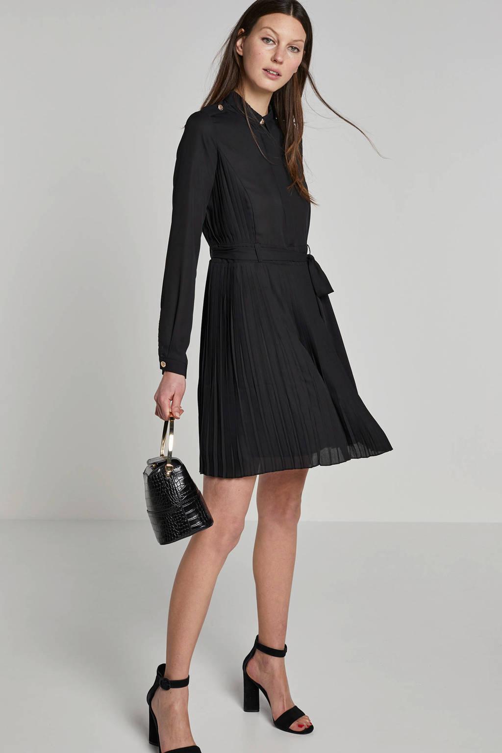 JOSH V jurk met plissé, Zwart