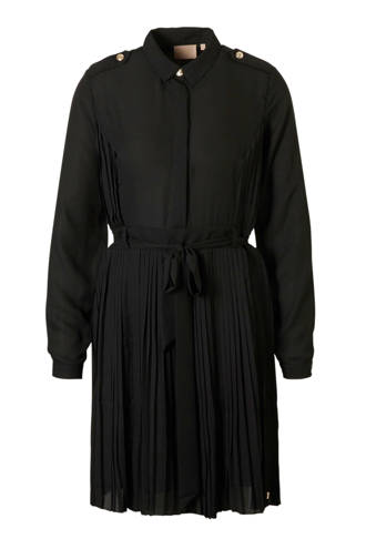 jurk met plissé