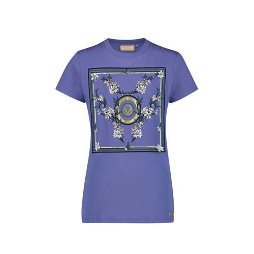 JOSH V T-shirt met opdruk paars