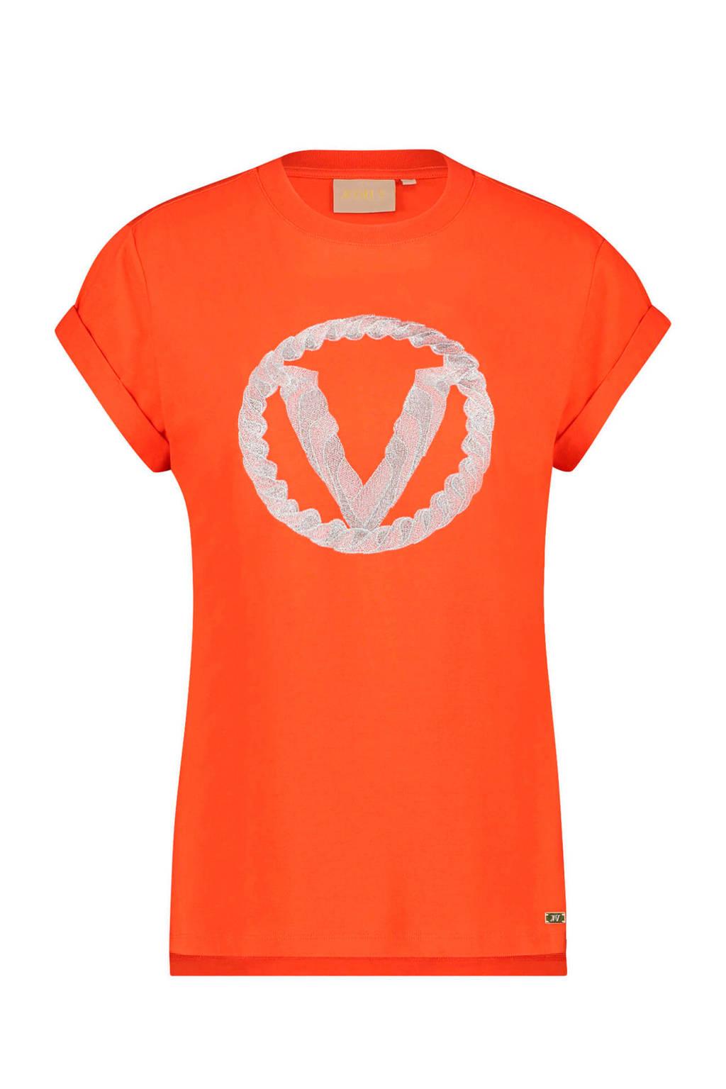 JOSH V Dora T-shirt oranjerood, Oranjerood