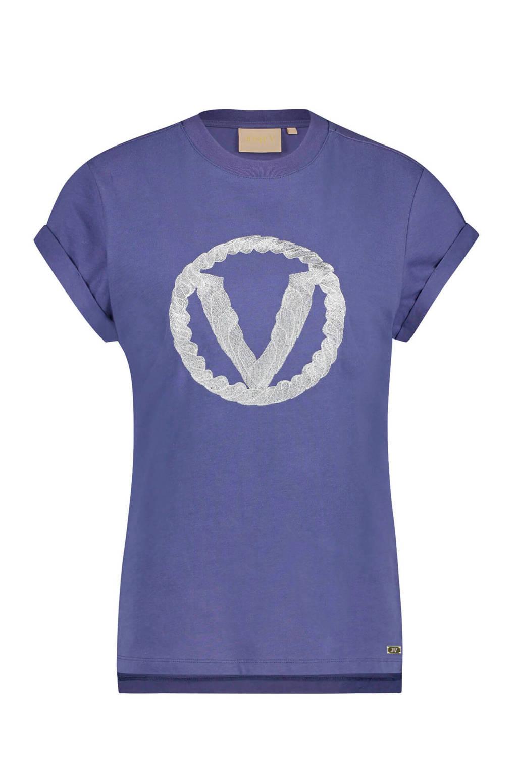JOSH V Dora T-shirt paarsblauw, Paarsblauw