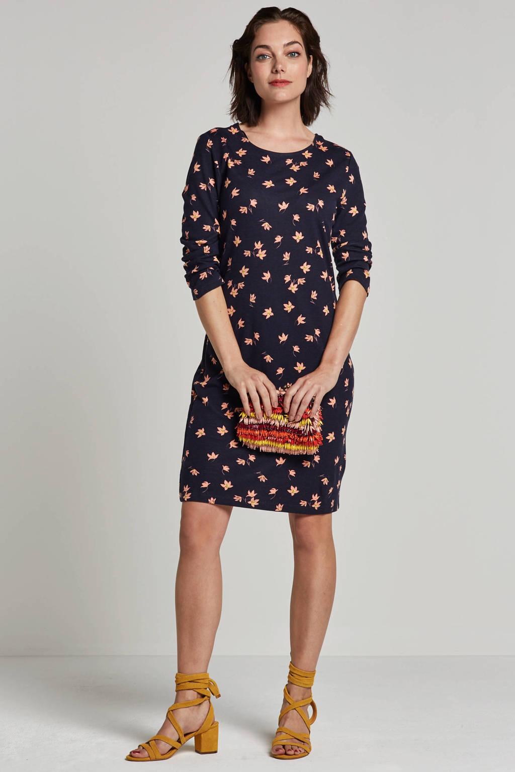 Saint Tropez jurk met bloemenprint, Blauw