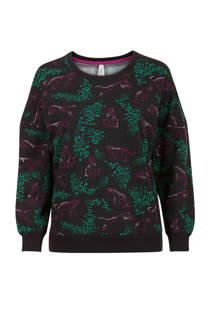 Miss Etam Lang sweater luipaardprint zwart (dames)