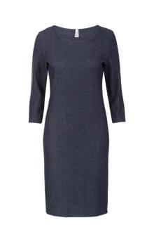 Regulier jurk melée blauw