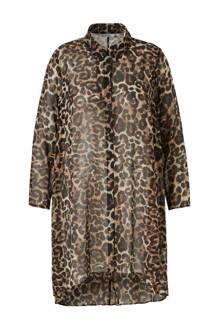XL Yessica blousejurk met panterprint