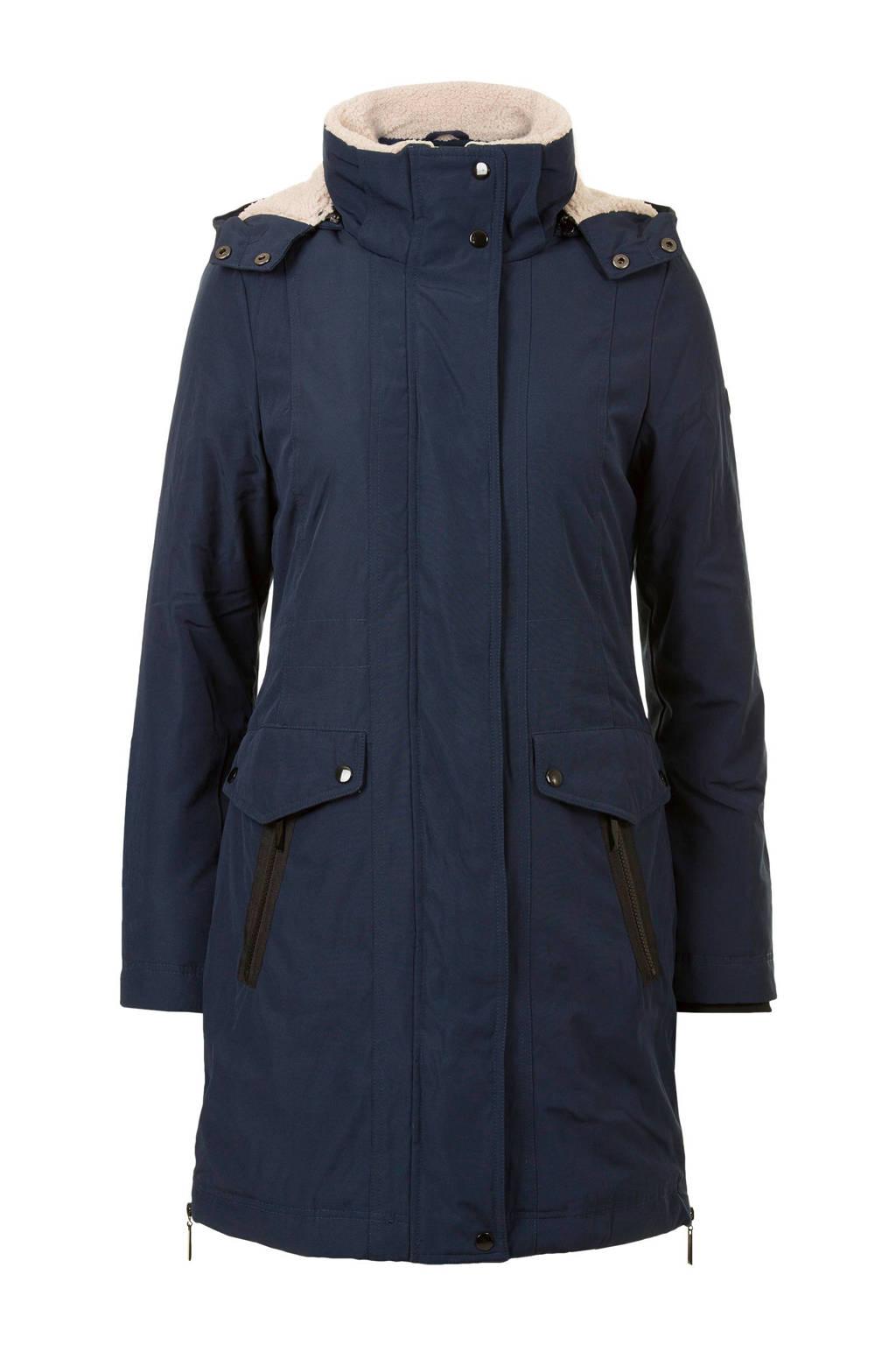 Miss Etam Regulier winterjas donkerblauw, Donkerblauw