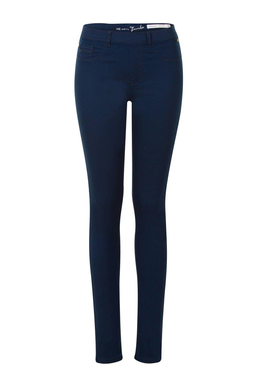 Miss Etam Lang slim fit tregging blauw 36 inch, Blauw
