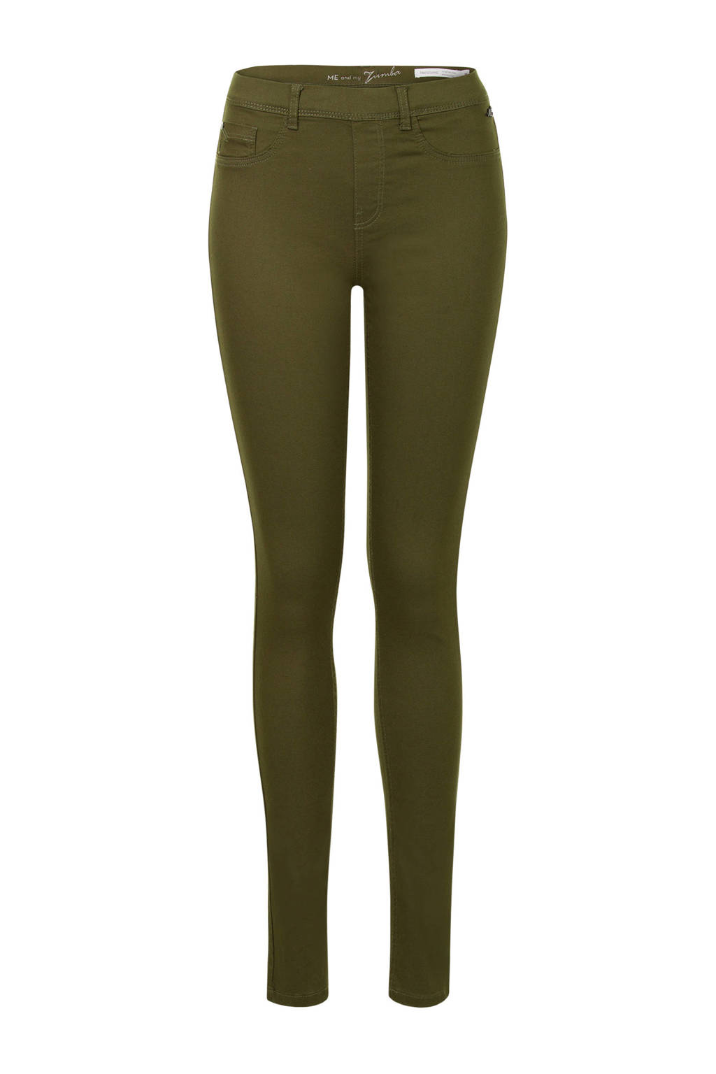 Miss Etam Lang slim fit tregging legergroen, Legergroen