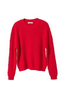 trui met stippentextuur rood