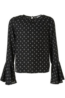blouse met sterren Joya zwart