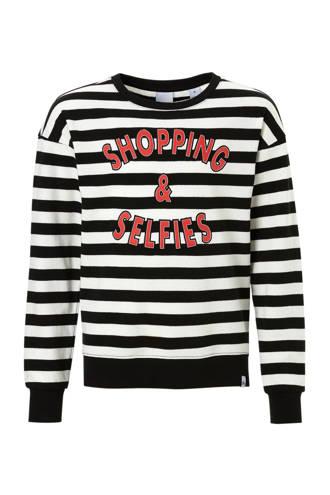 gestreepte sweater zwart/wit