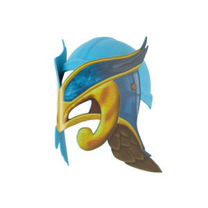Raveleijn helm blauw incl. masker Lisa